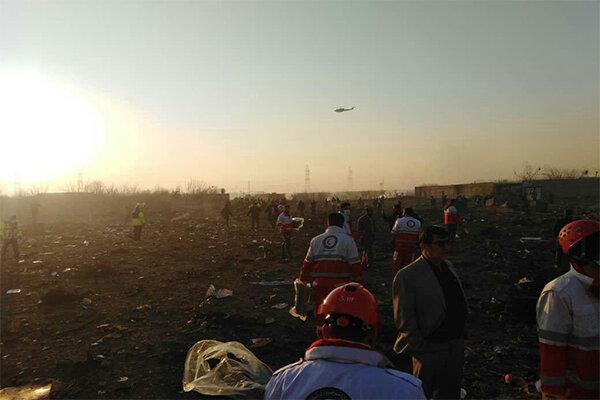 آخرین گزارش از سانحه سقوط هواپیمای اوکراینی/ فیلم