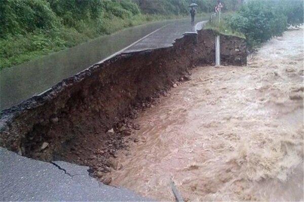 سیلاب شدید در منطقه «بند امیرشاه» بیرجند
