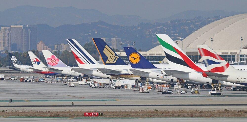 افت محسوس ترافیک هوایی جهان تحت تاثیر ویروس کرونا