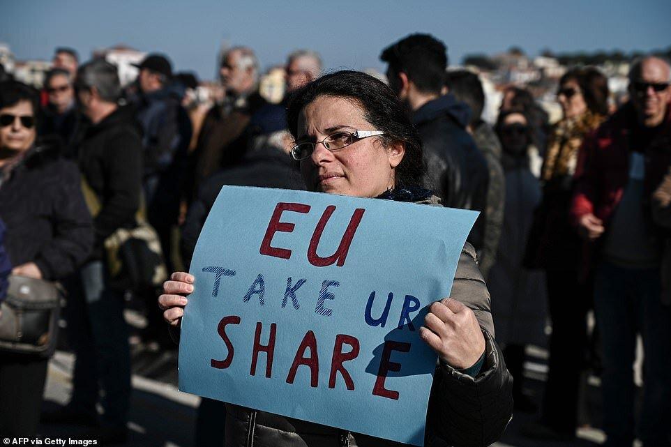 تظاهرات یونانی ها علیه سیاست های مهاجرتی کشورهای اروپایی
