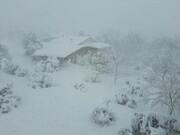 بارش سنگین برف راه ارتباطی ۱۷۰ روستای الیگودرز را مسدود کرد