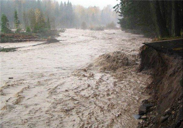 احتمال سیلابی شدن رودخانه ها در زنجان/ بارش برف در مناطق کوهستانی