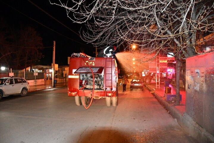 مرحله دوم ضدعفونی مکان های مختلف شهر  یاسوج انجام شد