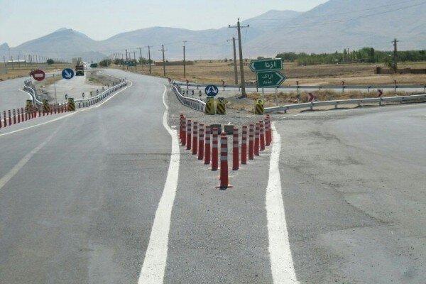 بهسازی و ایمن سازی ۲۰ کیلومتر از محور همدان- تهران