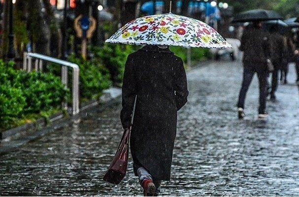 بارش باران در مناطق غربی و مرکزی کشور