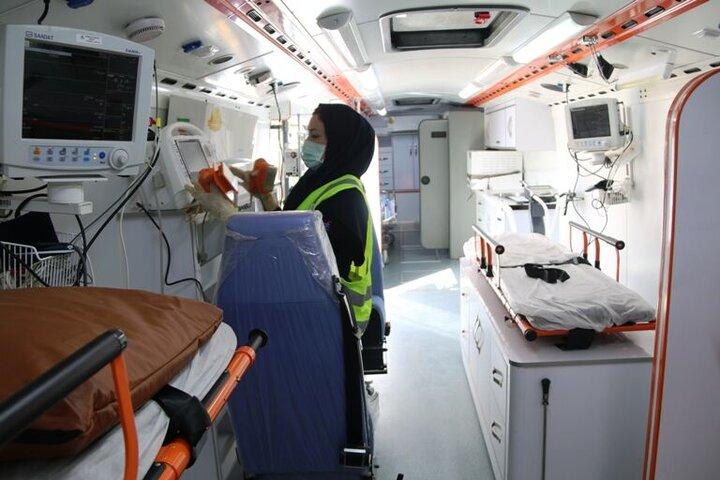 نخستین اتوبوس اورژانس پارس جنوبی رونمایی شد