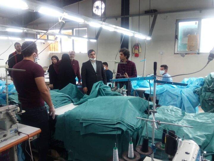 زمینه تولید روزانه ۴۰ هزار لباس پزشکی در کشور ایجاد شده است