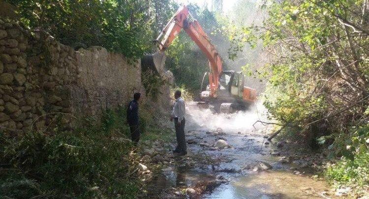 آزادسازی ۵ هزار مترمربع از تصرفات حریم رودخانه ای در شهرستان گرمی