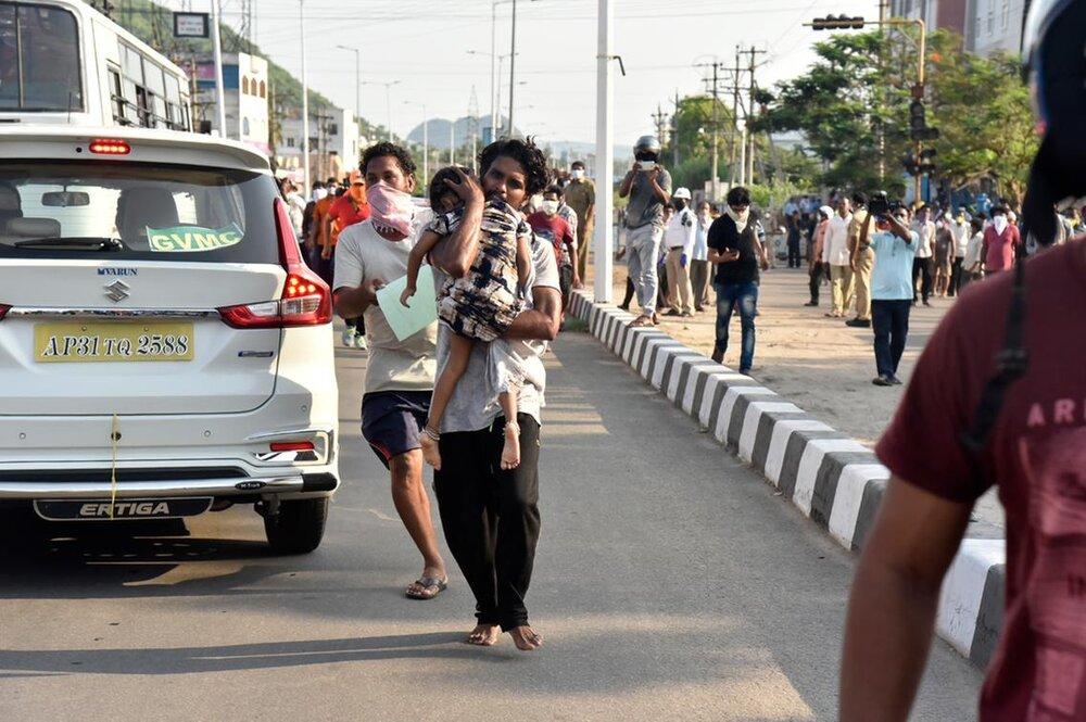 نشت گاز سمی از کارخانه شرکت ال جی در هند