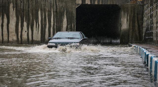 وقوع سیلاب در تبریز