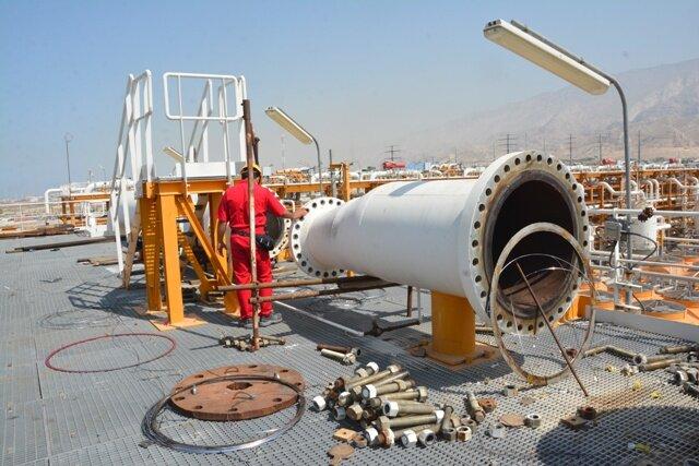 عملیات تعمیرات اساسی در مجتمع گاز پارس جنوبی کلید خورد