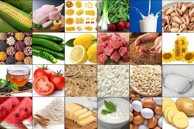 متوسط تغییرات قیمت کالاهای خوراکی در بهمن ۹۹