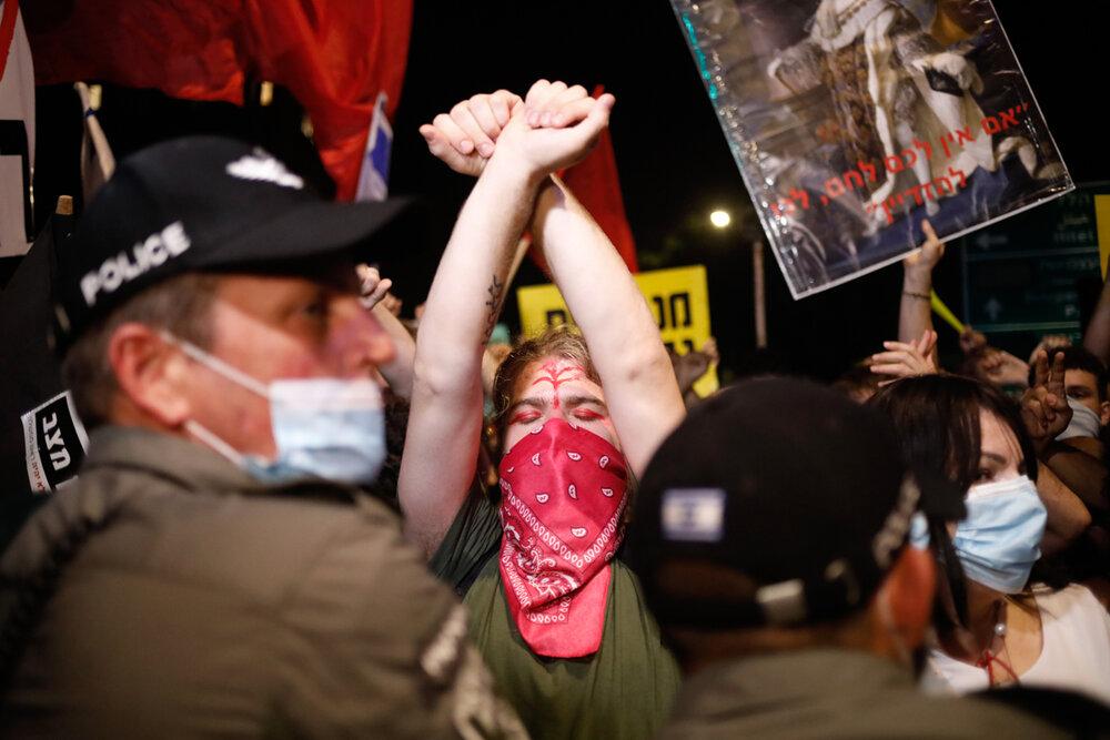 تظاهرات علیه فساد مالی نتانیاهو