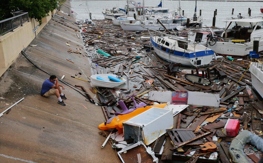 طوفان هانا در تگزاس