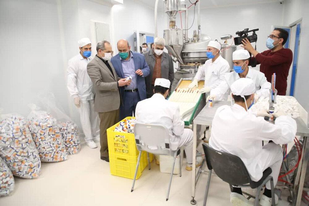 نخستین خط تولید قرصهای جوشان کشور در قم افتتاح شد