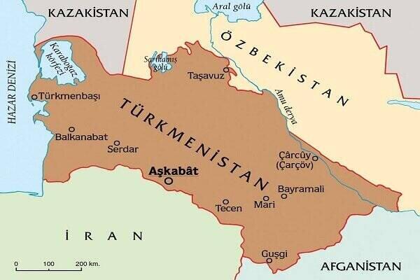 نمایی از صنعت و کشاورزی در ترکمنستان