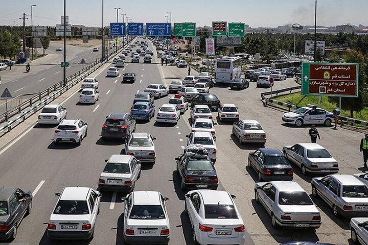 ۲۴۸ هزار خودرو از استان تهران خارج شد/ ورودی ها به استان افزایش یافته است