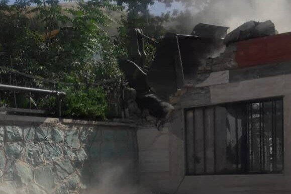 تخریب ویلای غیرمجاز ۲۰ میلیاردی در شمال تهران