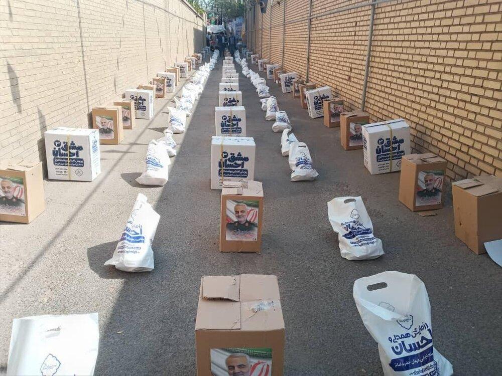 ۴۵۰ بسته معیشتی بین اصناف آسیبدیده از بحران کرونا در یزد توزیع شد