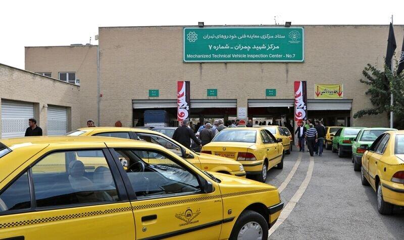 معاینه فنی تاکسیهای تهران برای یک هفته رایگان شد