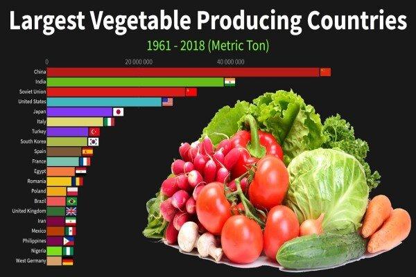 چین و هند، نیم قرن بی رقیب در تولید سبزیجات