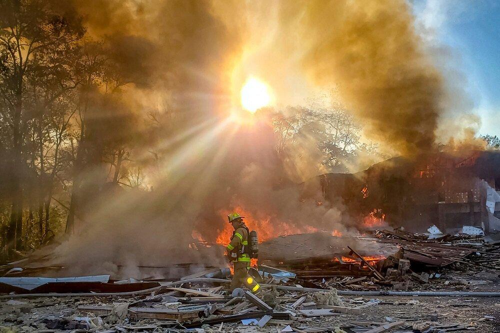 انفجار در ویرجینیا آمریکا