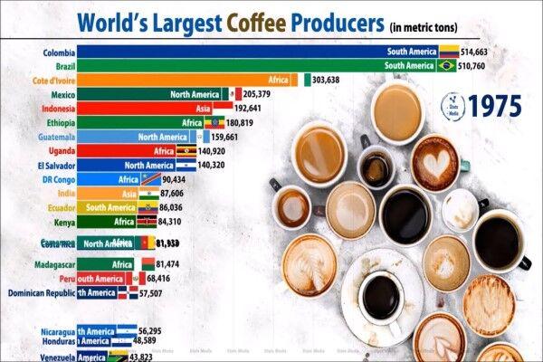 برزیل، کشور دانههای قهوه