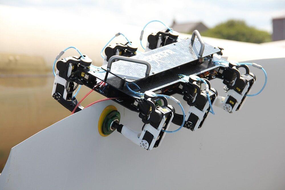 ربات بازرسی و نگهداری سوار بر تیغههای توربین بادی