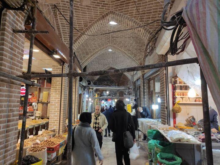 اتمام مسقف سازی بازار صفی در مجموعه بازار بزرگ تبریز