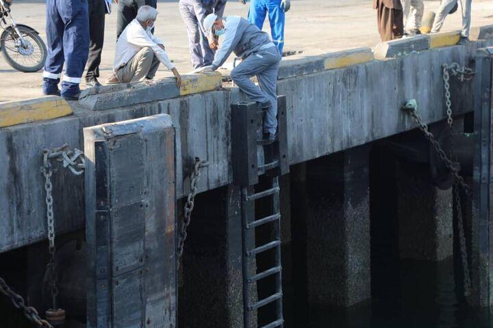 صرفه جویی ۹۰ درصد ارزی با بومی سازی و نصب نردبانهای RL۲۰۰ در بندر شهید باهنر