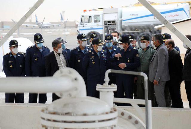 افتتاح مرکز ذخیره سازی و توزیع سوخت هواپیما