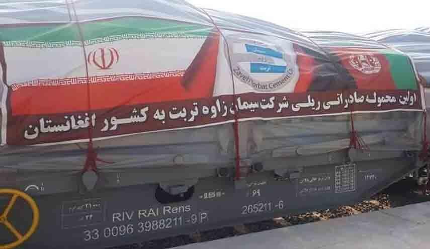 نخستین محموله صادراتی ایران از راه آهن خواف - هرات وارد افغانستان شد