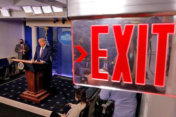 خروج ترامپ از کاخ سفید با کارنامه ضعیف اقتصادی