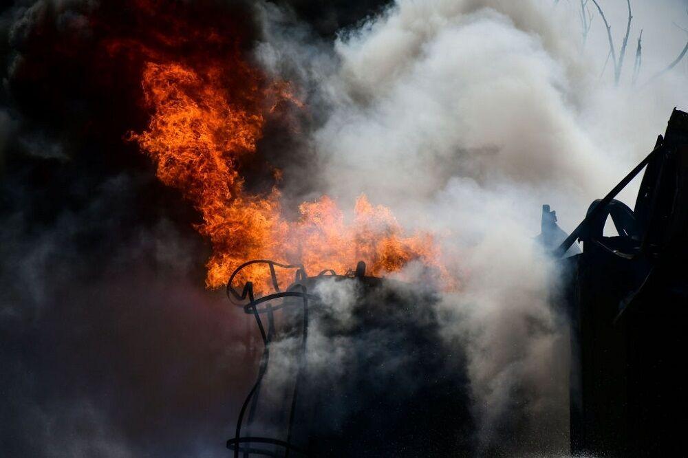 آتشسوزی در یکی از پالایشگاههای نفت آفریقای جنوبی