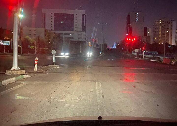 خیابانهای اصلی تهران در خاموشی
