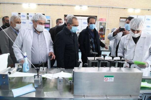 یک کارخانه تولید ماسک در قم افتتاح شد