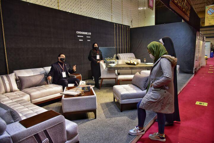 نمایشگاه تخصصی مبلمان و لوستر در همدان گشایش یافت