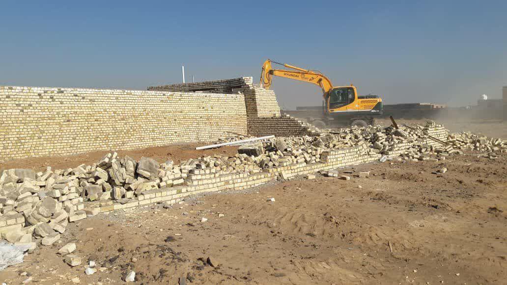 رفع تصرف اراضی کشاورزی دشت ناجی آباد کاشان