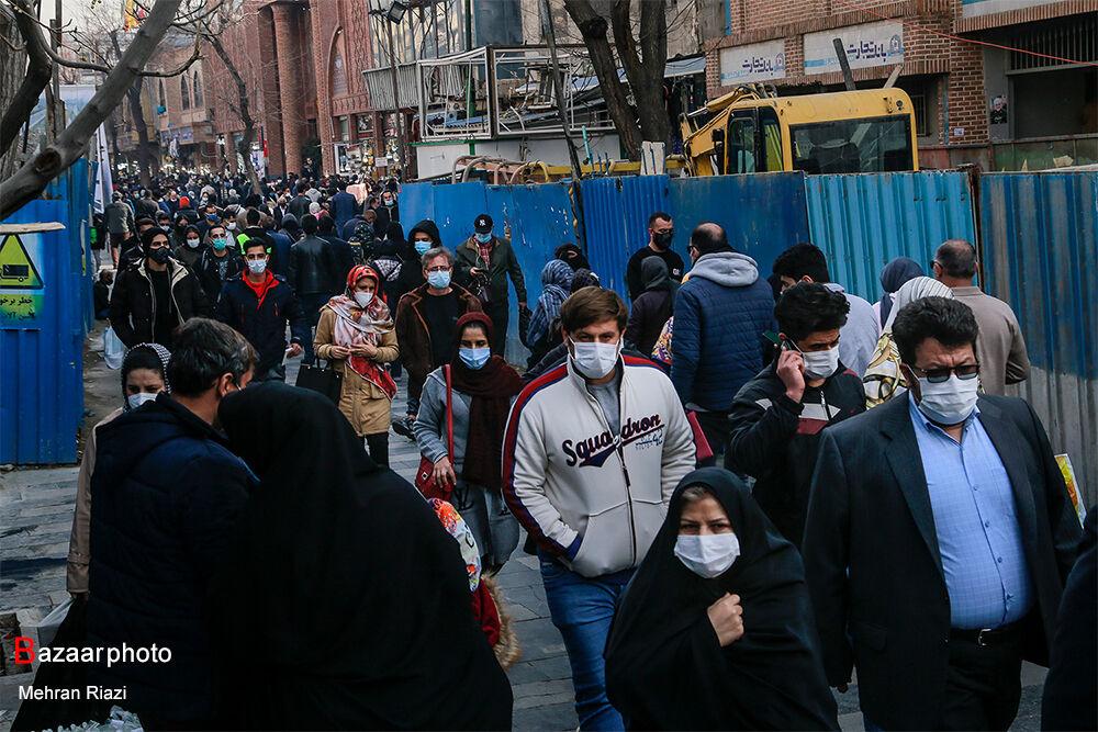 شلوغیهای بازار تهران در ایام کرونایی