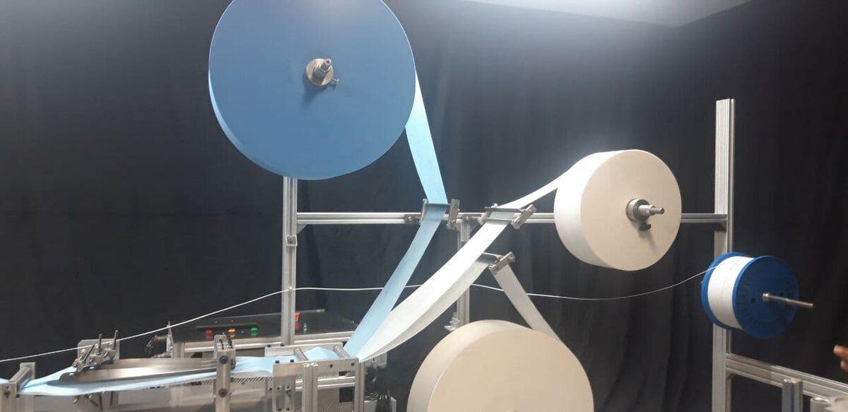 رونمایی از دستگاه تولید تمام خودکار ماسک
