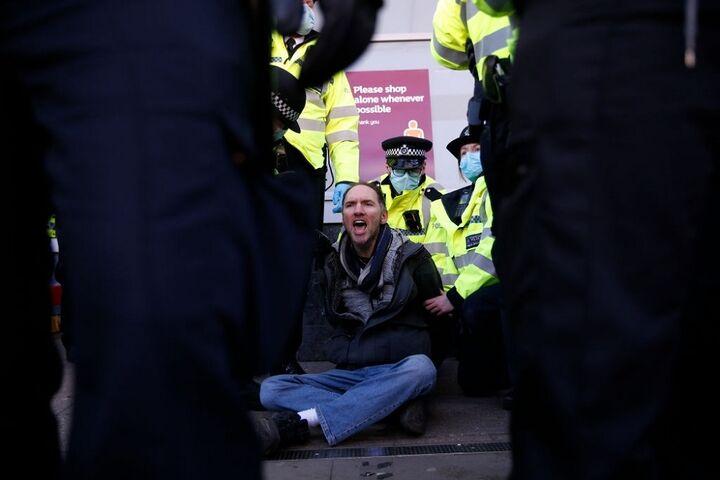 تظاهرات در انگلیس 7