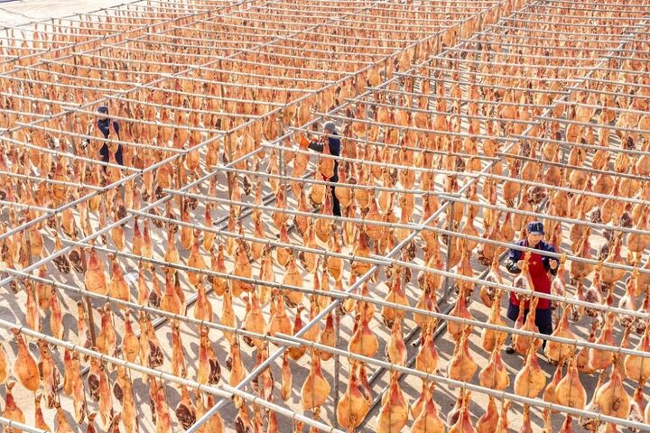 تولید ژامبون در چین 1
