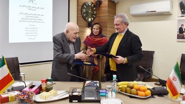 امضای تفاهمنامه اتاق مشترک ایران و ایتالیا با انجمن مدیران صنایع ایران