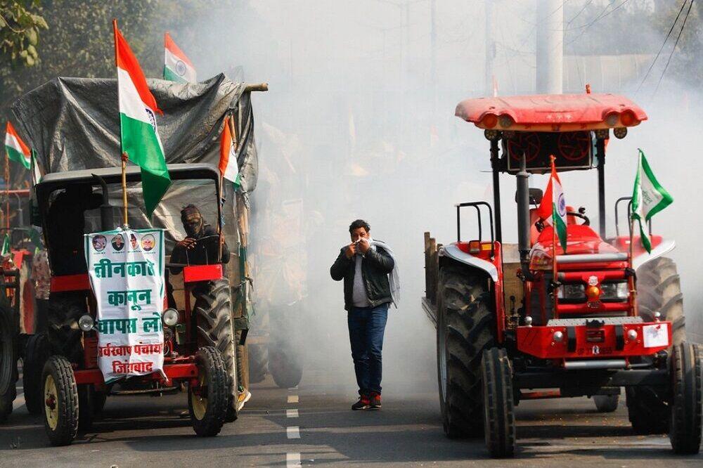اعتراضات گسترده کشاورزان هندی در روز جمهوری