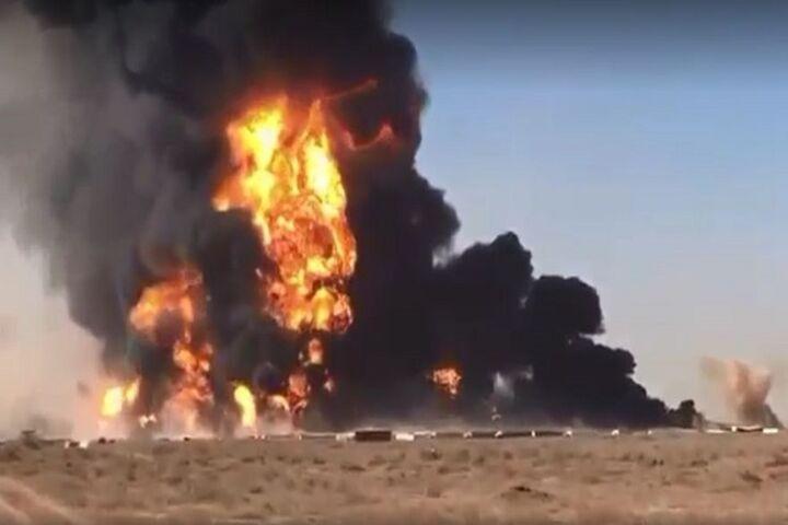 آتش سوزی گسترده در گمرک مرزی افغانستان با ایران