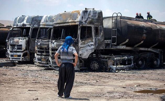 دود آتشسوزی «اسلام قلعه»به چشم رانندگان رفت| افزایش بار گرفتاری شرکتهای حملونقل