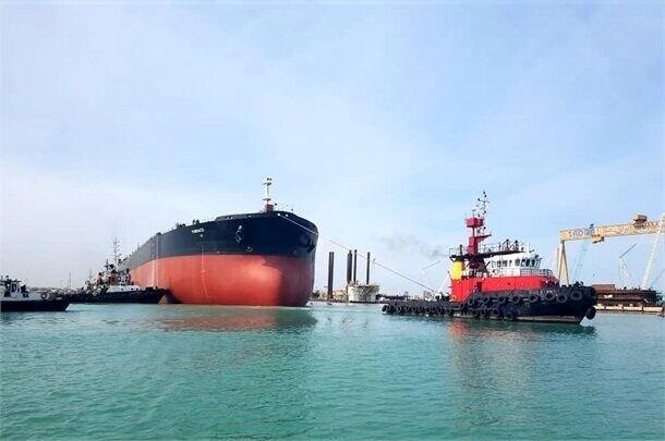 پهلوگیری هفتمین کشتی حامل روغن خام خوراکی در بندر نوشهر