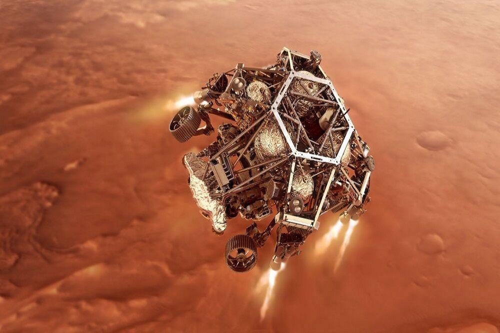 تصاویری از مریخ نورد پرسویرنس بر روی سطح مریخ