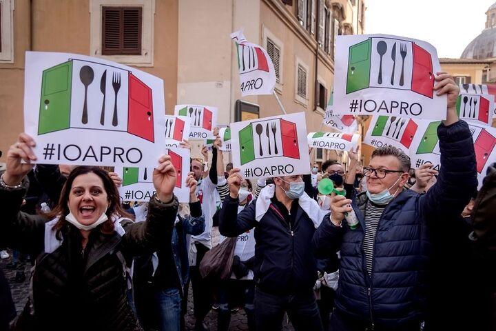 اعتراض در ایتالیا 5