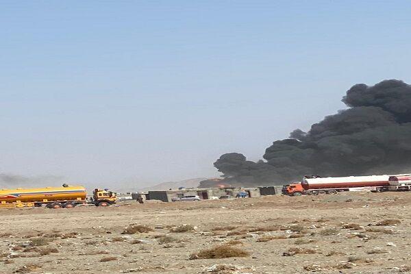 آتش سوزی در آن سوی بازارچه مرزی ماهیرود